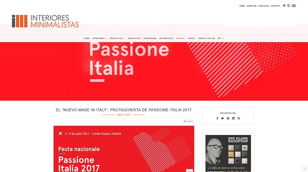 Publicación Interiores Minimalistas_Passione Italia_FOOD & EVENT